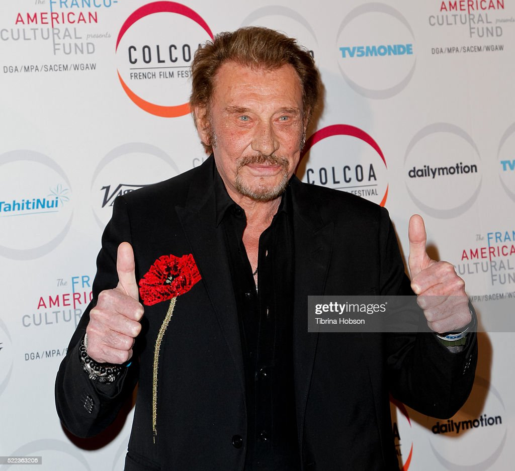 <a gi-track='captionPersonalityLinkClicked' href=/galleries/search?phrase=Johnny+Hallyday&family=editorial&specificpeople=243155 ng-click='$event.stopPropagation()'>Johnny Hallyday</a> attends opening night of the 20th annual COLCOA French Film Festival at Directors Guild of America on April 18, 2016 in Los Angeles, California.