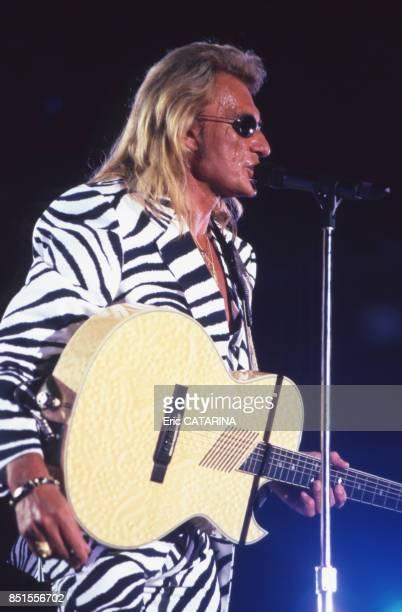 Johnny Hallyday en concert au Paleo Festival à Nyon en juillet 1996 Suisse