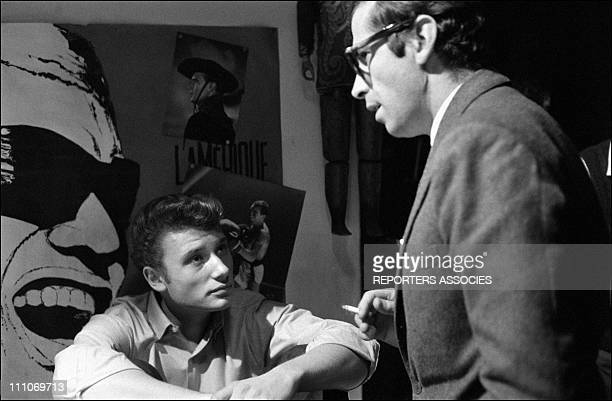 Johnny Hallyday in the sixties in France Johnny Hallyday and Roger Vadim on the set of 'Les Parisiennes' in France in November 1961