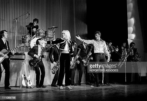 Johnny Hallyday in the sixties in France Johnny Hallyday and Sylvie Vartan at the Olympia in Paris France on March 17 1967