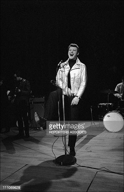Johnny Hallyday in the sixties in France Johnny Hallyday at the 'Palmares de la Chanson' in France on April 07 1966