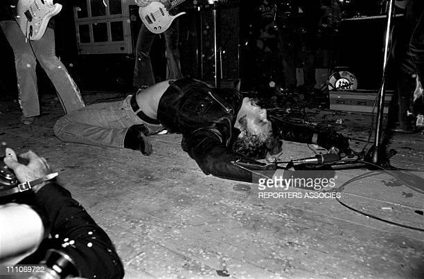 Johnny Hallyday in the sixties in France Johnny Hallyday at the Palais des Sports during the 'Musicorama' in France on November 14 1967