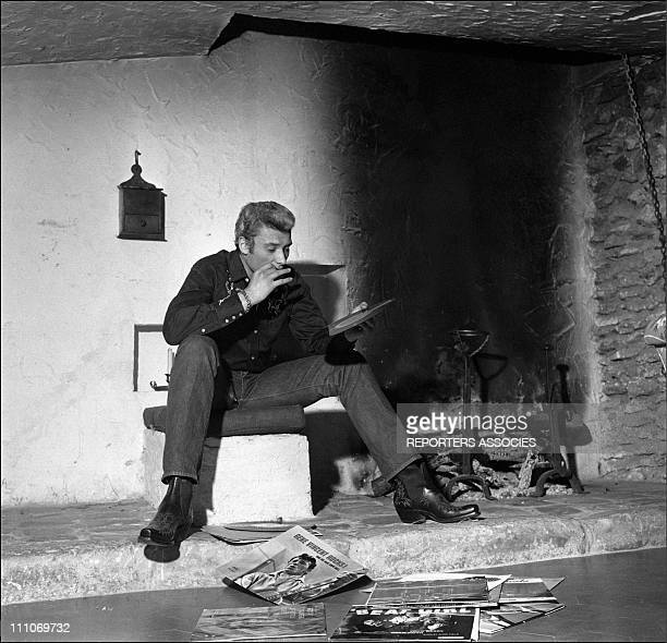 Johnny Hallyday in the sixties in France Johnny Hallyday is in his country house in France on January 05 1963