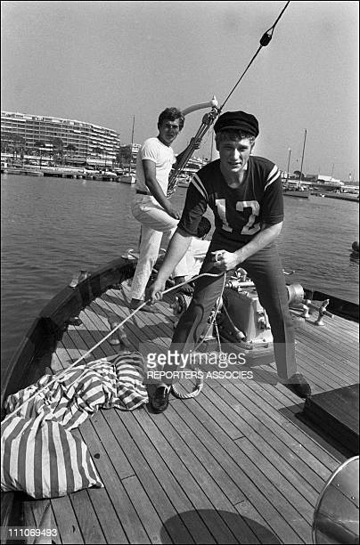 Johnny Hallyday in the sixties in France Johnny Hallyday on the French Riviera in France on July 12 1965
