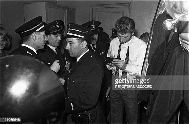 Johnny Hallyday in the sixties in France Johnny Hallyday signing an autograph in France on December 24 1963