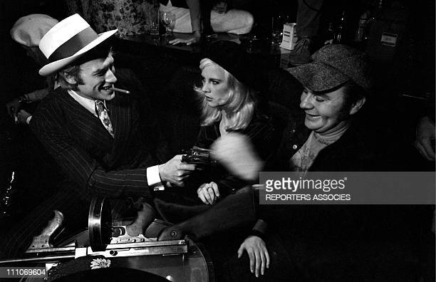 Johnny Hallyday in the sixties in France Johnny Hallyday Sylvie Vartan Gunther Sachs at the 'Bonnie and Clyde' night at the Psychedelic nightclub in...