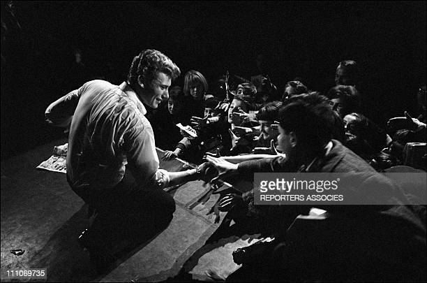 Johnny Hallyday in the sixties in France Johnny Hallyday the teenage idol in France on December 13 1962