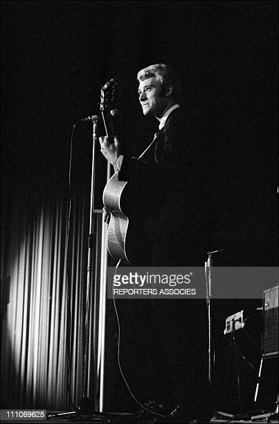 Johnny Hallyday in the sixties in France Opening night of Johnny's show at Cyrano in France on November 25 1965