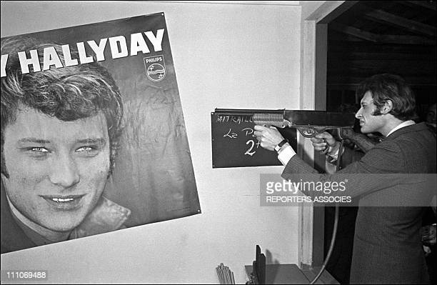 Johnny Hallyday in the sixties in France Opening of the Saloon with Johnny Hallyday in France on October 07 1966