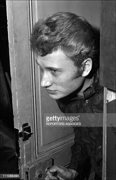 Johnny Hallyday in the sixties in France Premiere of Johnny Hallyday show in France on February 07 1964