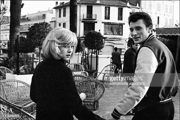Johnny Hallyday in the sixties in France Sylvie Vartan and Johnny Hallyday on the French Riviera in France on January 02 1965