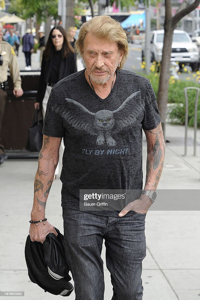 <a gi-track='captionPersonalityLinkClicked' href=/galleries/search?phrase=Johnny+Hallyday&family=editorial&specificpeople=243155 ng-click='$event.stopPropagation()'>Johnny Hallyday</a> is seen on November 12, 2013 in Los Angeles, California.