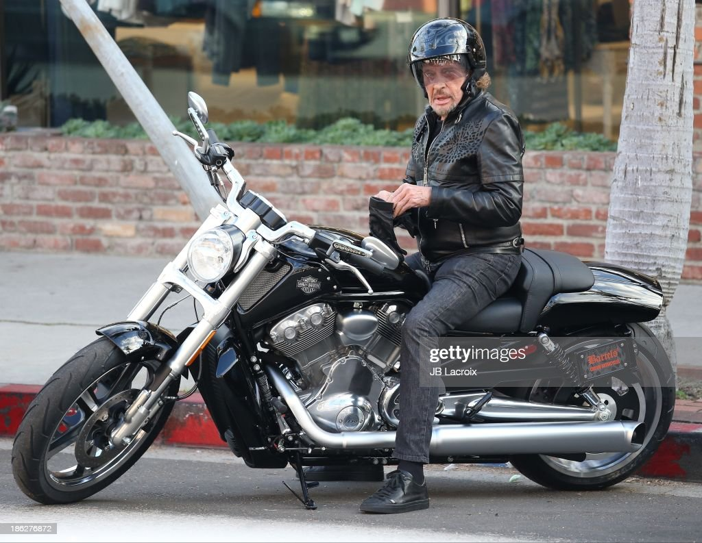 Johnny Hallyday is seen on October 29, 2013 in Los Angeles, California.