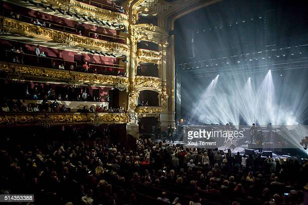 Johnny Hallyday performs in concert at Gran Teatre del Liceu on March 8 2016 in Barcelona Spain