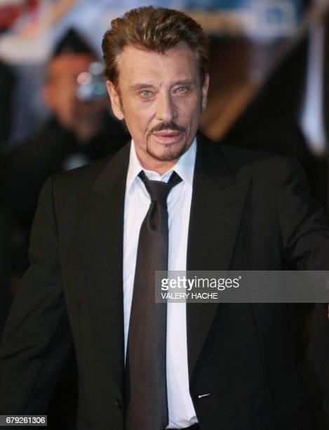 'Johnny Hallyday une longue carrière au cinéma faite de hauts et de bas' Picture taken on January 26 2008 at the Palais des Festivals in Cannes...