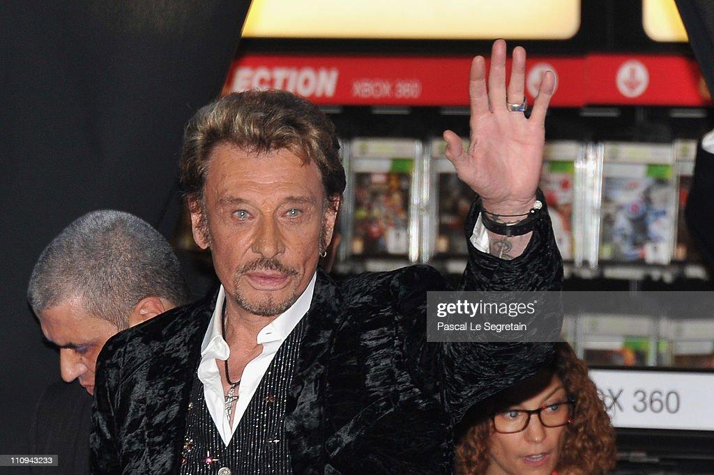 Johnny Hallyday - New Album Launch Celebration At Virgin Champs-Elysees