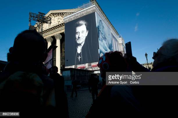 Johnny Hallyday's funerals at Eglise De La Madeleine on December 9 2017 in Paris France France pays tribute to Johnny Hallyday the french music icon...