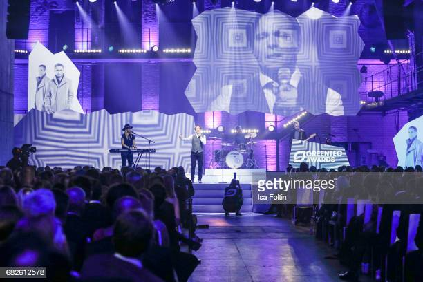 Johnny Hates Jazz perform at the GreenTec Awards Show at ewerk on May 12 2017 in Berlin Germany