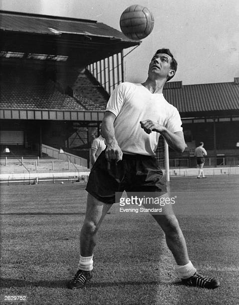 Johnny Haynes of Fulham and England back in training after a car accident that put him out of football for a season