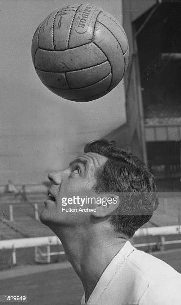 Johnny Haynes of Fulham Tottenham and England displaying some of his ball control skills Mandatory Credit Allsport Hulton/Archive
