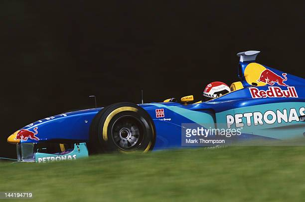 Johnny Herbert of Great Britain drives the Red Bull Sauber Petronas Sauber C17 Petronas V10 during the Austrian Grand Prix on 26th July 1998 at the...
