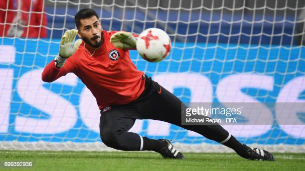 Johnny Herrera in action during the Chile Training session and press conference on June 21 2017 in Kazan Russia