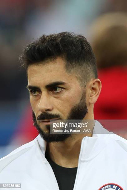 Johnny Herrera of Chile during the FIFA Confederations Cup Russia 2017 Group B match between Cameroon and Chile at Spartak Stadium on June 18 2017 in...