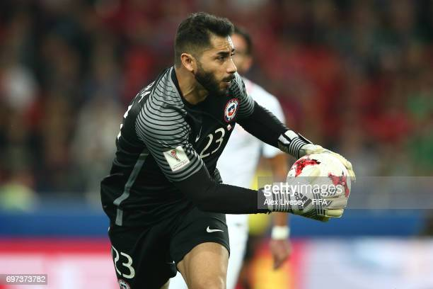 Johnny Herrera of Chile in action during the FIFA Confederations Cup Russia 2017 Group B match between Cameroon and Chile at Spartak Stadium on June...