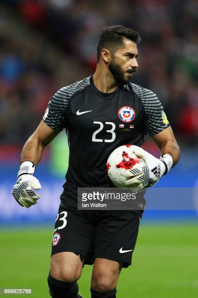 Johnny Herrera of Chile in action during the FIFA Confederations Cup Russia 2017 Group B match between Germany and Chile at Kazan Arena on June 22...