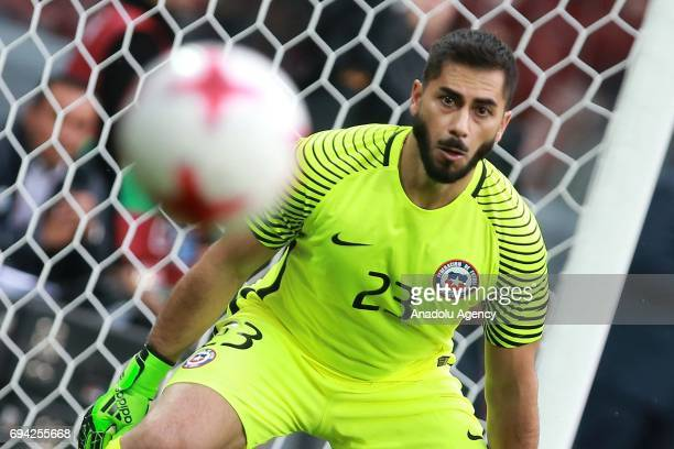 Johnny Herrera of Chile in action during the friendly match between Russia and Chile at Veb Arena in Moscow Russia on June 9 2017