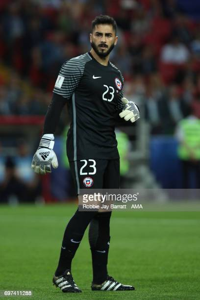 Johnny Herrera of Chile looks on during the FIFA Confederations Cup Russia 2017 Group B match between Cameroon and Chile at Spartak Stadium on June...