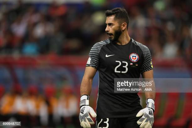 Johnny Herrera of Chile looks on during the FIFA Confederations Cup Russia 2017 Group B match between Germany and Chile at Kazan Arena on June 22...