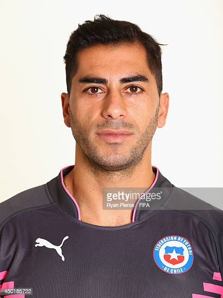 Johnny Herrera of Chile poses during the official FIFA World Cup 2014 portrait session on June 6 2014 in Belo Horizonte Brazil
