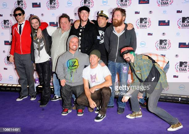 Johnny Knoxville and cast and crew of Jackass attend the MTV Europe Awards 2010 at the La Caja Magica on November 7 2010 in Madrid Spain
