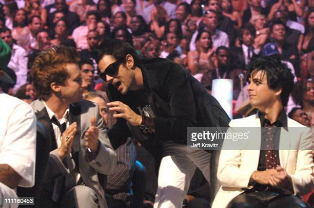 Johnny Knoxville and Green Day during 2005 MTV Video Music Awards Audience and Backstage at American Airlines Arena in Miami Florida United States