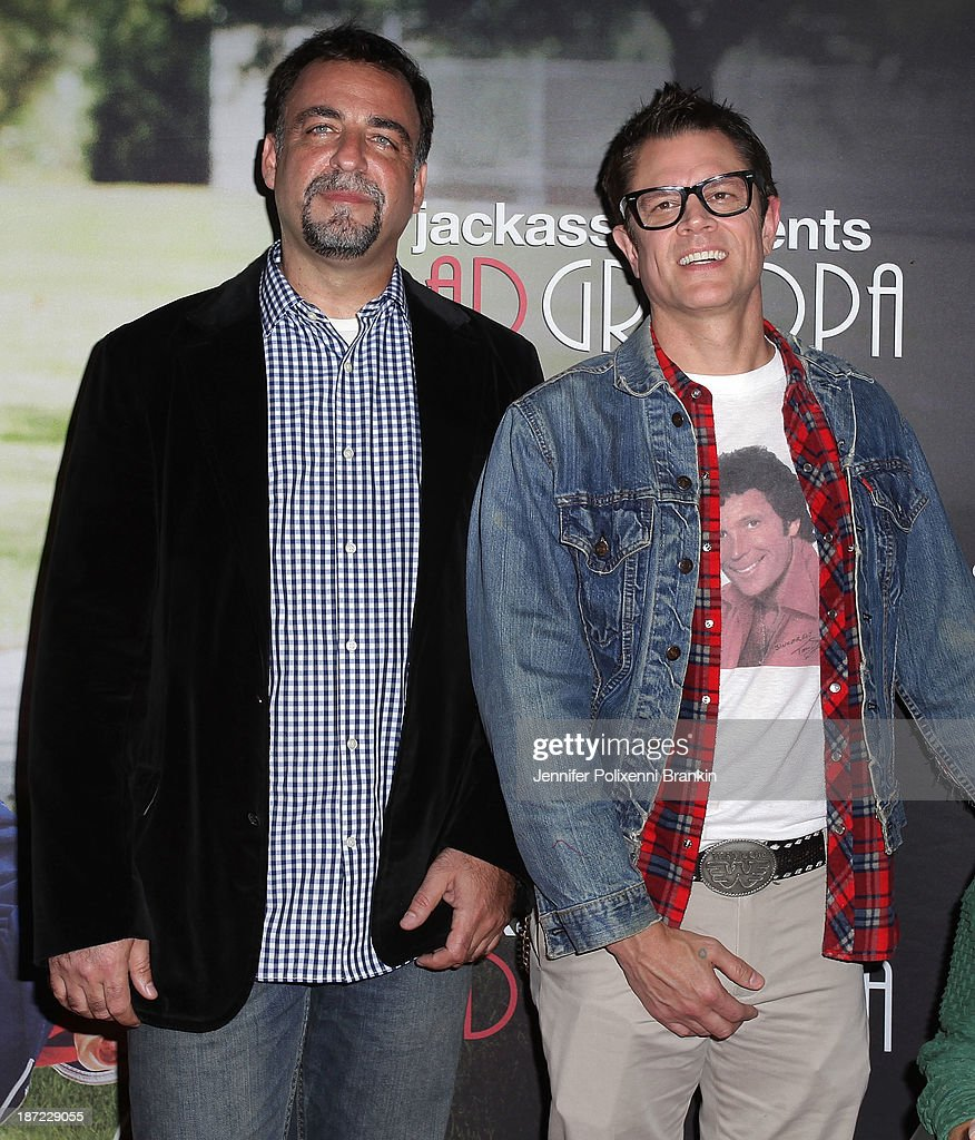 <a gi-track='captionPersonalityLinkClicked' href=/galleries/search?phrase=Johnny+Knoxville&family=editorial&specificpeople=206210 ng-click='$event.stopPropagation()'>Johnny Knoxville</a> (R) and poducer Derek Freda attend the Australian premiere of 'Jackass Presents: Bad Grandpa' at Event Cinemas, George Street on November 7, 2013 in Sydney, Australia.