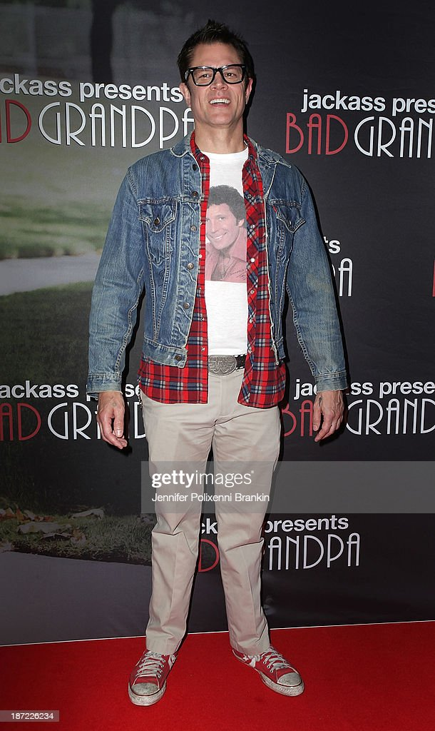 <a gi-track='captionPersonalityLinkClicked' href=/galleries/search?phrase=Johnny+Knoxville&family=editorial&specificpeople=206210 ng-click='$event.stopPropagation()'>Johnny Knoxville</a> arrives at the Australian premiere of 'Jackass Presents: Bad Grandpa' at Event Cinemas, George Street on November 7, 2013 in Sydney, Australia.