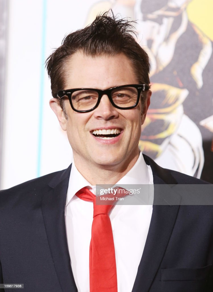 <a gi-track='captionPersonalityLinkClicked' href=/galleries/search?phrase=Johnny+Knoxville&family=editorial&specificpeople=206210 ng-click='$event.stopPropagation()'>Johnny Knoxville</a> arrives at the Los Angeles premiere of 'The Last Stand' held at Grauman's Chinese Theatre on January 14, 2013 in Hollywood, California.