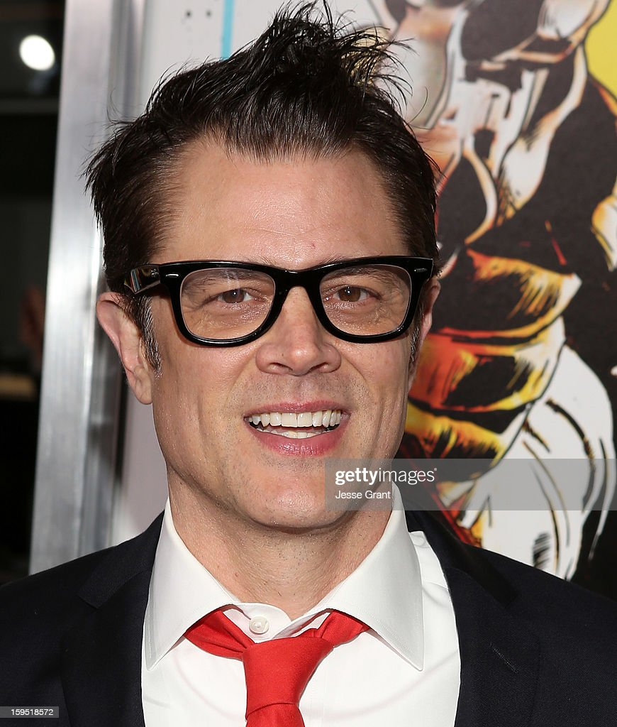 <a gi-track='captionPersonalityLinkClicked' href=/galleries/search?phrase=Johnny+Knoxville&family=editorial&specificpeople=206210 ng-click='$event.stopPropagation()'>Johnny Knoxville</a> attends 'The Last Stand' World Premiere at Grauman's Chinese Theatre on January 14, 2013 in Hollywood, California.