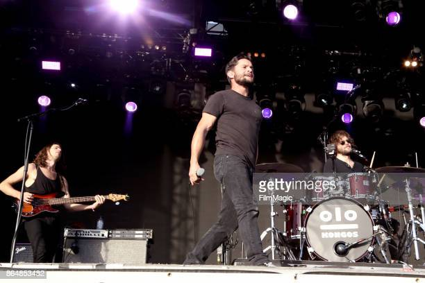 Johnny Kongos Dylan Kongos and Jesse Kongos of Kongos perform at Piestewa Stage during day 2 of the 2017 Lost Lake Festival on October 21 2017 in...