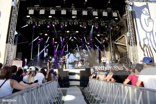 Johnny Kongos Dylan Kongos Jesse Kongos and Daniel Kongos of Kongos perform at Piestewa Stage during day 2 of the 2017 Lost Lake Festival on October...