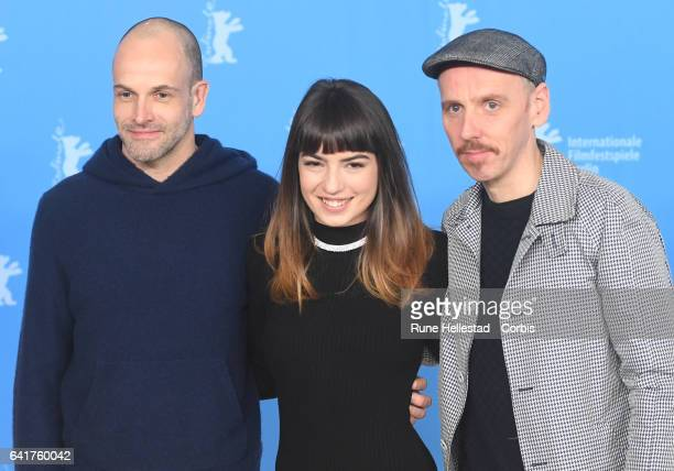 Johnny Lee Miller Anjela Nedyalkova and Ewen Bremner attend the 'T2 Trainspotting' photo call during the 67th Berlinale International Film Festival...