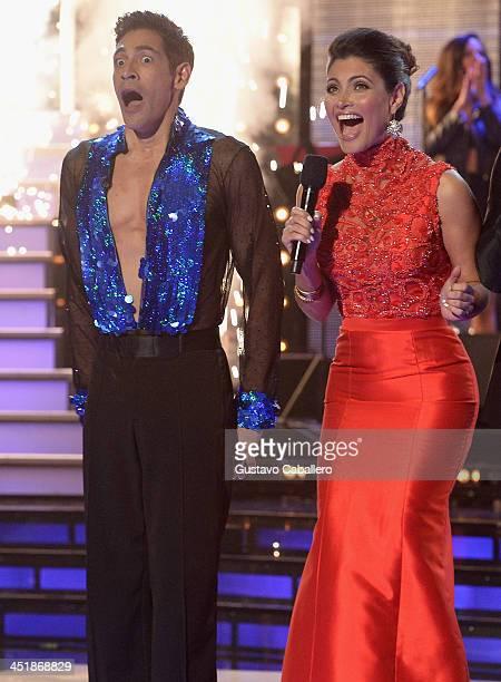 Johnny Lozada and Chiquinquira Delgado participates in participates in 'Mira Quien Baila' Grand Finale at Univision Headquarters on November 24 2013...