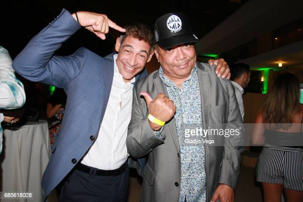 Johnny Lozada and Rafael Jose attend the launching of the Cap Collection by Johnny Lozada at Verdanza Hotel on May 19 2017 in San Juan Puerto Rico