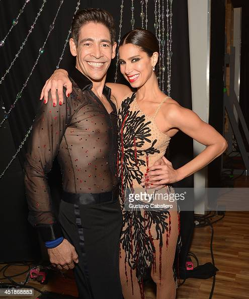 Johnny Lozada and Roselyn Sanchez participates in participates in 'Mira Quien Baila' Grand Finale at Univision Headquarters on November 24 2013 in...