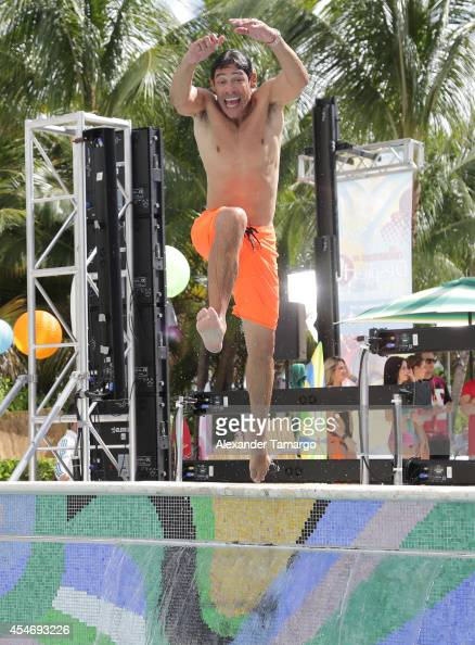 Johnny Lozada is seen on the set of Despierta America at Doubletree Surfcomber Hotel South Beach on September 5 2014 in Miami Beach Florida