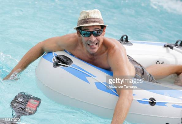 Johnny Lozada is seen on the set of Despierta America at Surfcomber Miami South Beach A Kimpton Hotel on September 12 2014 in Miami Beach Florida