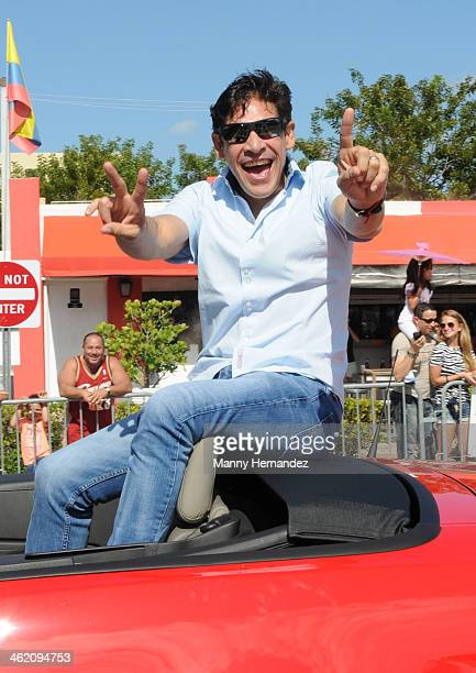 Johnny Lozada participates in the 44th annual Three Kings Day Parade in Little Havana on January 12 2014 in Miami Florida