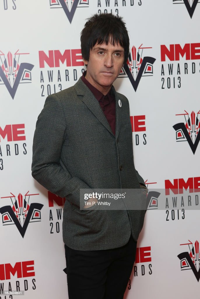Johnny Marr attends the NME Awards 2013 at the Troxy on February 27, 2013 in London, England.