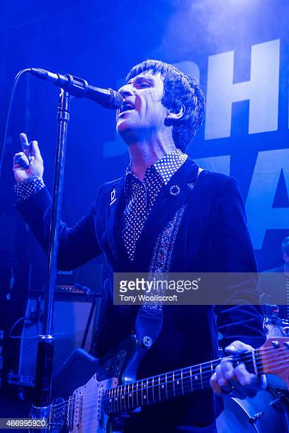 Johnny Marr Johnny Marr performs at The Sugarmill on March 19 2015 in StokeonTrent England